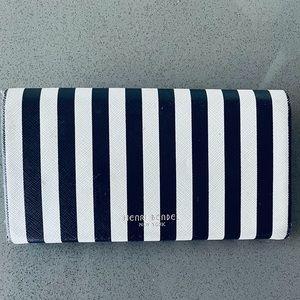Henri Bendel Striped Folding Sunglasses Case